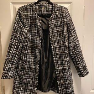 Karl Lagerfeld long plaid jacket